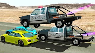 ROCKET POWERED POLICE CHASES AND TAKEDOWNS - BeamNG Drive Police Car Chase