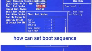 how can set boot sequence
