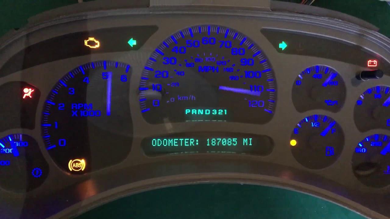2003 gmc yukon xl gauge cluster
