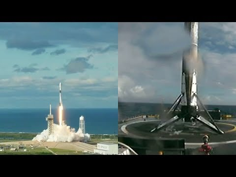 Falcon 9 launches Es'hail-2 & Falcon 9 first stage landing