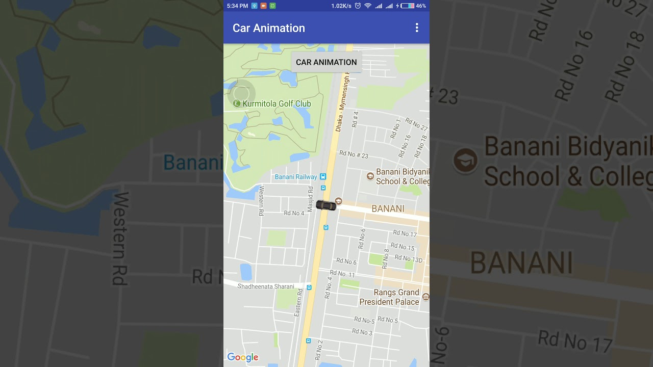 Smooth car animation like uber [Updated]
