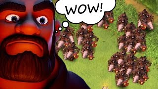RISE OF THE HOG RIDER!! - ULTIMATE MASS TROOP CHALLENGE IN CLASH OF CLANS!