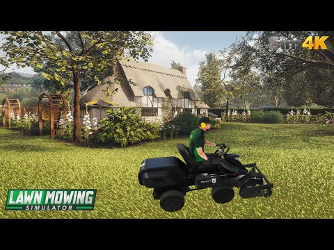 Lawn Mowing Simulator | First Look - 4K UHD |