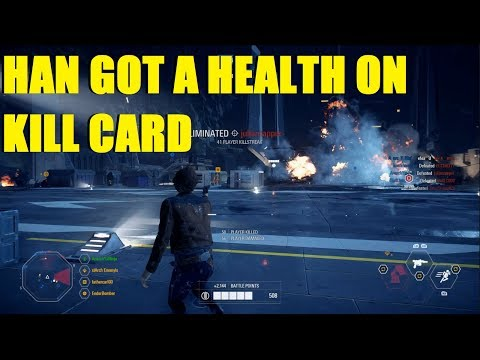 Star Wars Battlefront 2 - Using Han's new Health on kill card! HAN IS GREAT NOW! (Han Solo, Finn)