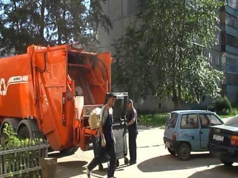 Работа мусоровоза смотреть видео - f34