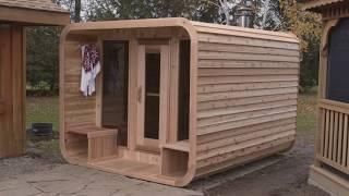 Dundalk LeisureCraft Luna Sauna with Porch Assembly