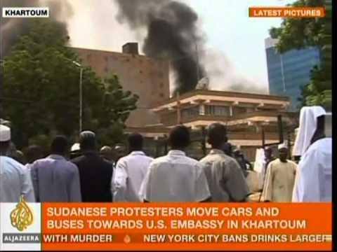 Sudan protesters break into U.S., German embassies against Innocence of Muslims film