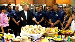 Donald Trump Thanksgiving Day speech to Coast Guard goes off the rails
