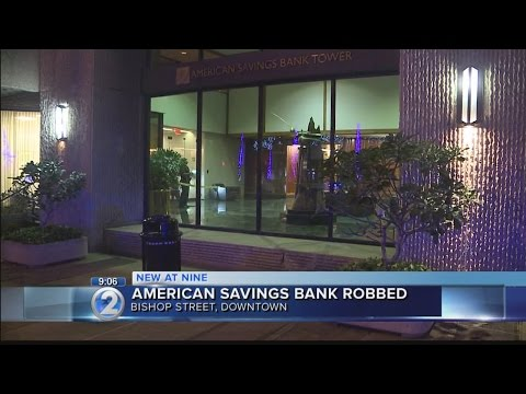 Police on lookout for downtown bank robbery suspect