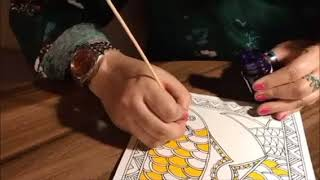 How to draw fish in Madhubani Painting