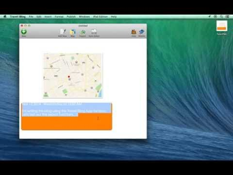 Export blog entries into PNG and PDF format using Travel iBlog for Mac
