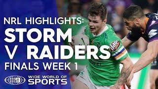 NRL Highlights: Melbourne Storm v Canberra Raiders - Finals Week 1 | NRL on Nine