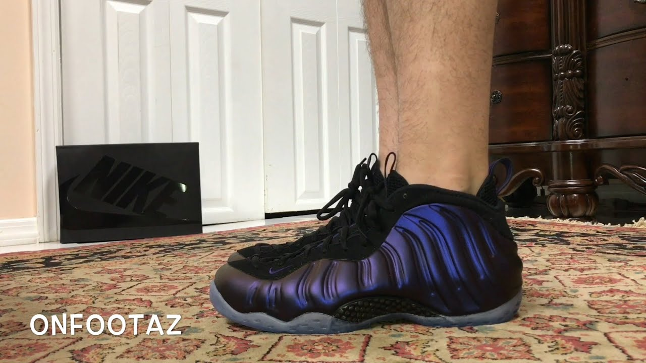 44873a449d3 Nike Air Foamposite One Eggplant 2017 On Foot - YouTube