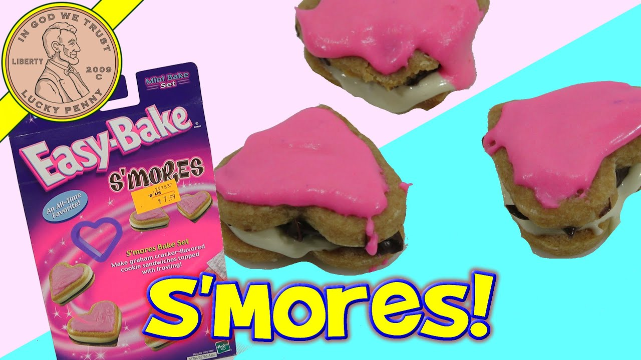 S'Mores Easy Bake Cookies With Watermelon Frosting