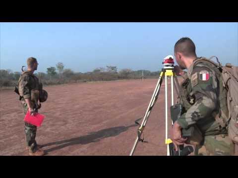 Sangaris: relevés topographiques à Bambari
