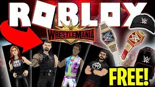 COMO OBTER GRATUITAMENTE WWE WRESTLING AVATARES & GEAR (ROBLOX) WRESTLEMANIA