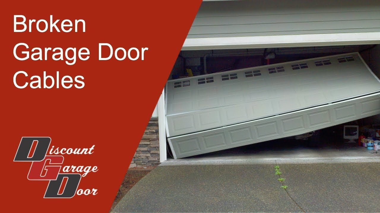 Broken Garage Door Cables Broken Arrow 918 234 Door Youtube