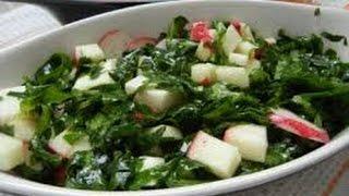 Полезный салат из маринованного мангольда и кейл