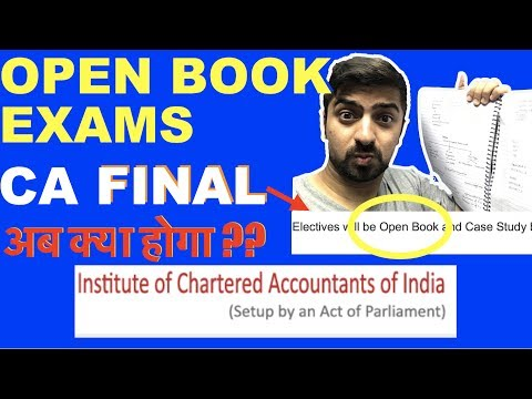 ICAI Open Book Examination From May 2018! YES