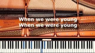 Adele - When We Were Young - Karaoke / Sing Along / Cover with Lyrics