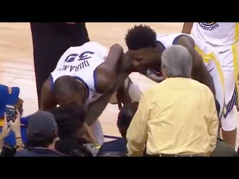 See What Kevin Durant Does after Women Gets Hit in the Face by Bad Pass!