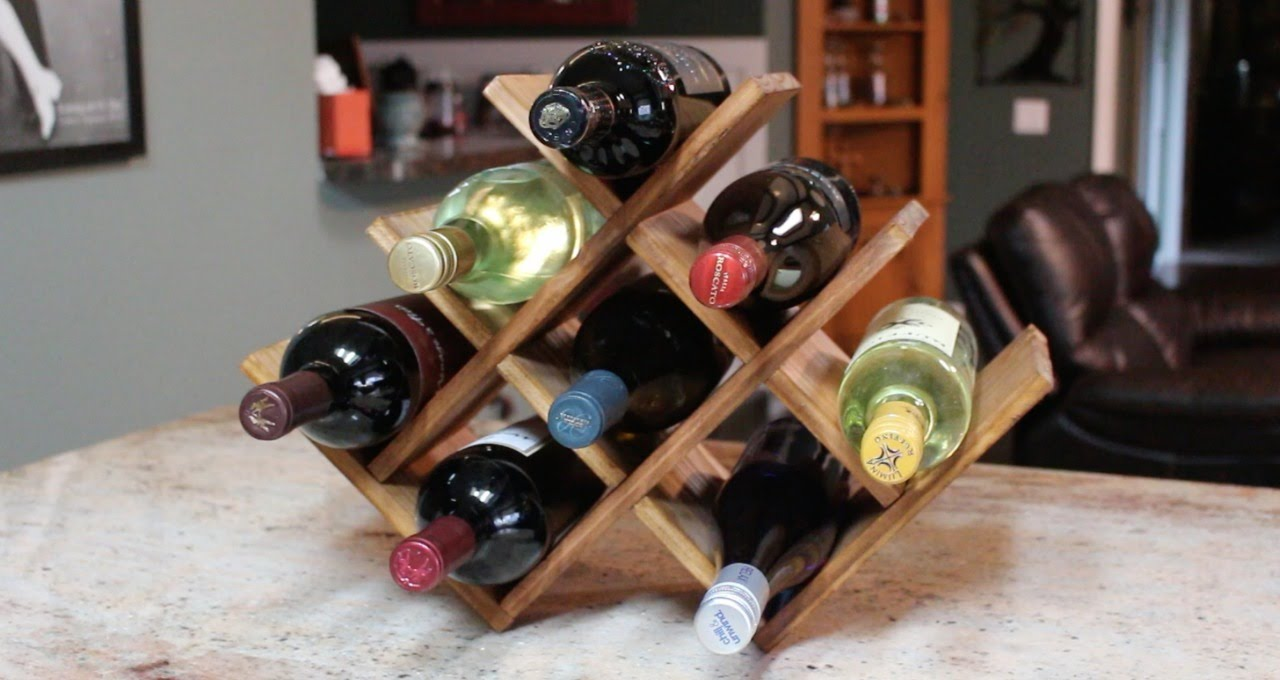 Diy Christmas Present Countertop Wine Rack Youtube