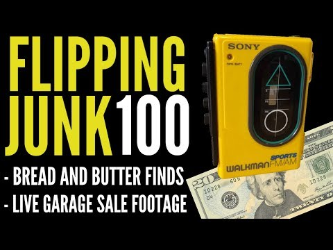 Flipping Junk [100] Yard Sale Finds and I Bought a Used Bedwetting Alarm Kit?