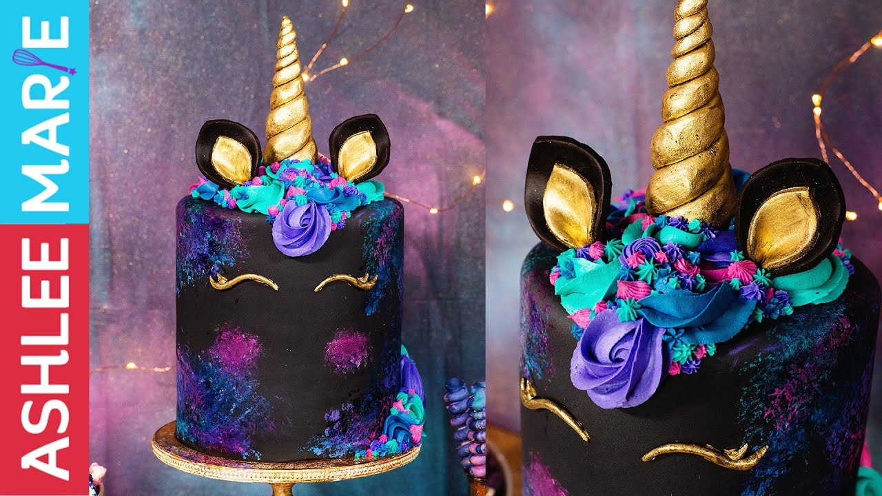 How to make a Galaxy Unicorn Cake Decorating Tutorial