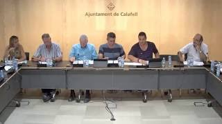 Ajuntament de Calafell: sessió plenària ordinària, 5 de setembre de 2016
