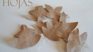 Hojas de papel hechas a mano.