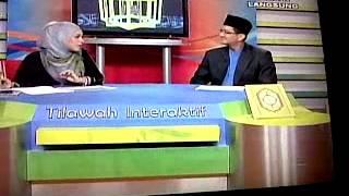 Tilawah Interaktif TV1 28/6/2013 bersama Sharifah Khasif Fadzilah Syed Badiuzzaman