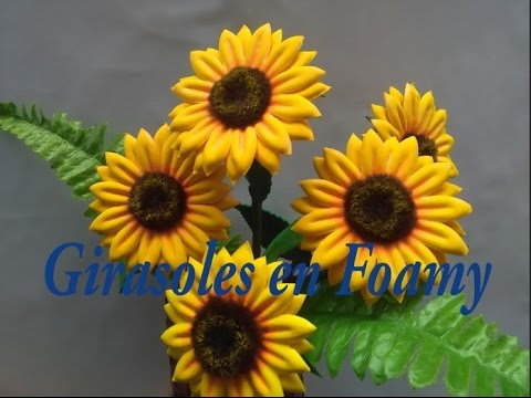 How To Make Sunflower In Foami
