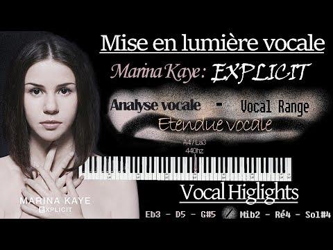 French Female Vocalist : Marina Kaye Vocal Range