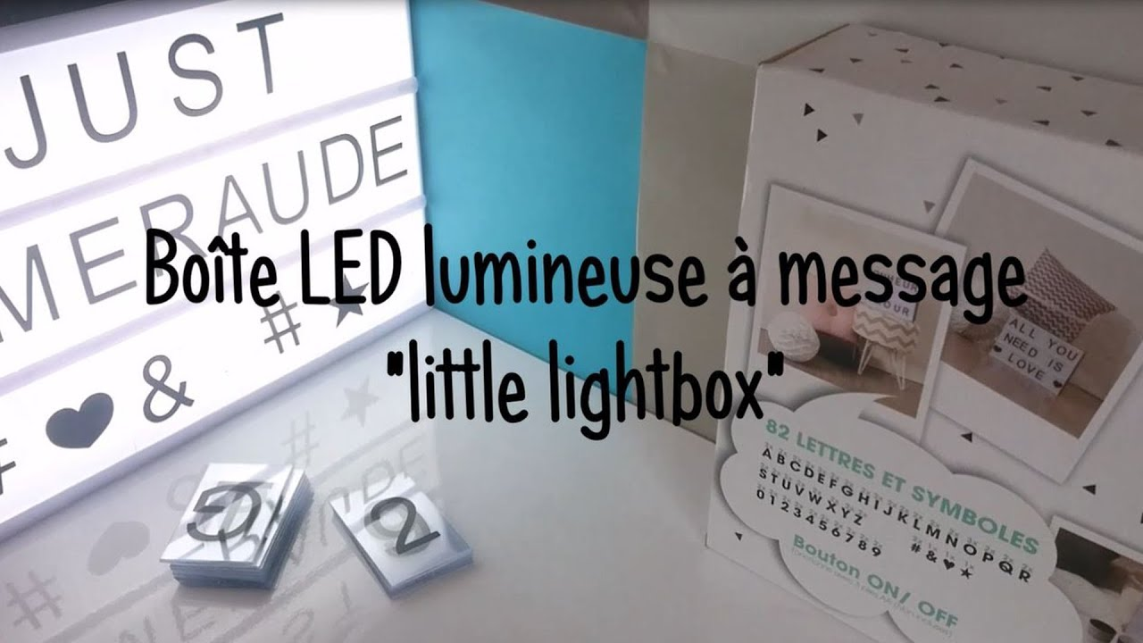 unboxing ma bo te led lumineuse message little lightbox j e youtube. Black Bedroom Furniture Sets. Home Design Ideas