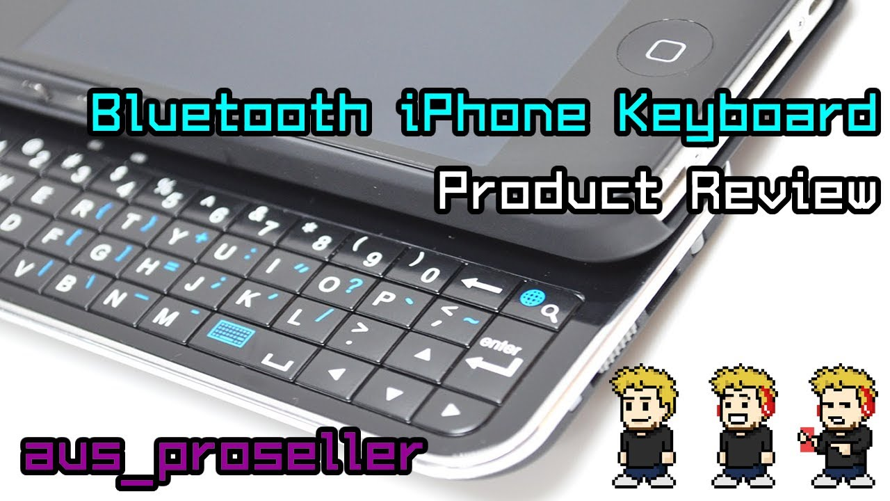 2b0e7b12945 Ultra Thin Slide out Wireless Bluetooth Keyboard for iPhone - YouTube