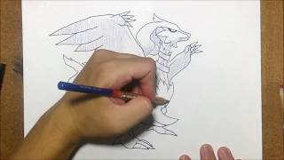 Speed Draw Anime | reshiram From Pokémon black and white | No 006