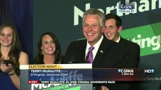 Terry McAuliffe 2013 Victory Speech (C-SPAN)