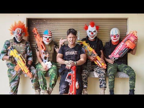 NERF WAR : Specal SWAT Warriors Nerf Guns Fight Bandits Mask Nerf Weapon
