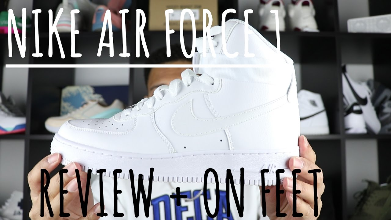 Nike Air Force 1 Hi WHITE 07 Review + ON FEET YouTube