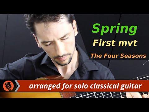 The Four Seasons, Spring, 1st mvt, A.Vivaldi (solo classical guitar arrangement by Emre Sabuncuoglu)