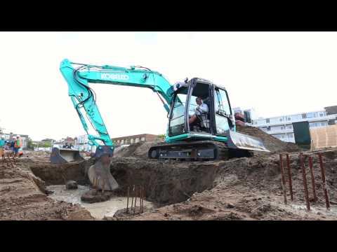 Kobelco SK75SR excavator - LL van der Post - Netherlands