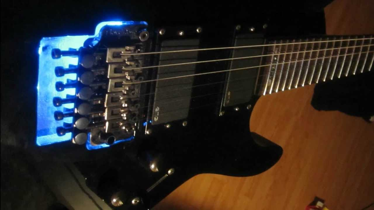 Guitar Blue Light Installation [modification] - YouTube