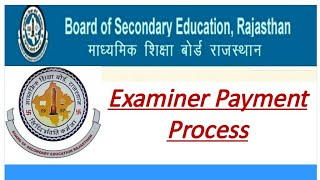 Rajasthan board examiner payment process