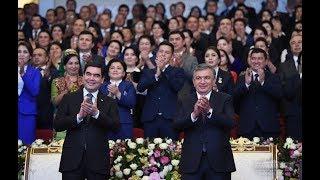 Шавкат Мирзиёев ва Гурбангули Бердимуҳамедов Хоразмда (Тўлиқ)