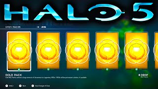 HALO 5 GOLD REQ PACK OPENING SPREE (Halo 5 Guardians)