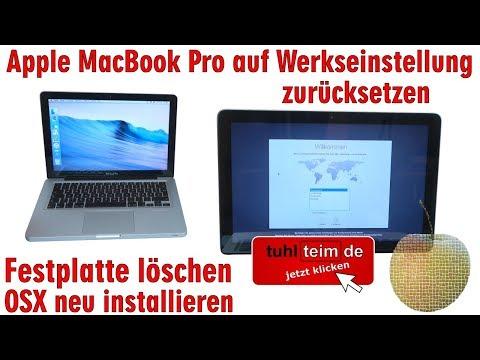 Mac Neu Aufsetzen Clean Install Saubere Neuinstallation Und Auslieferungszustand Bis Mojave Youtube