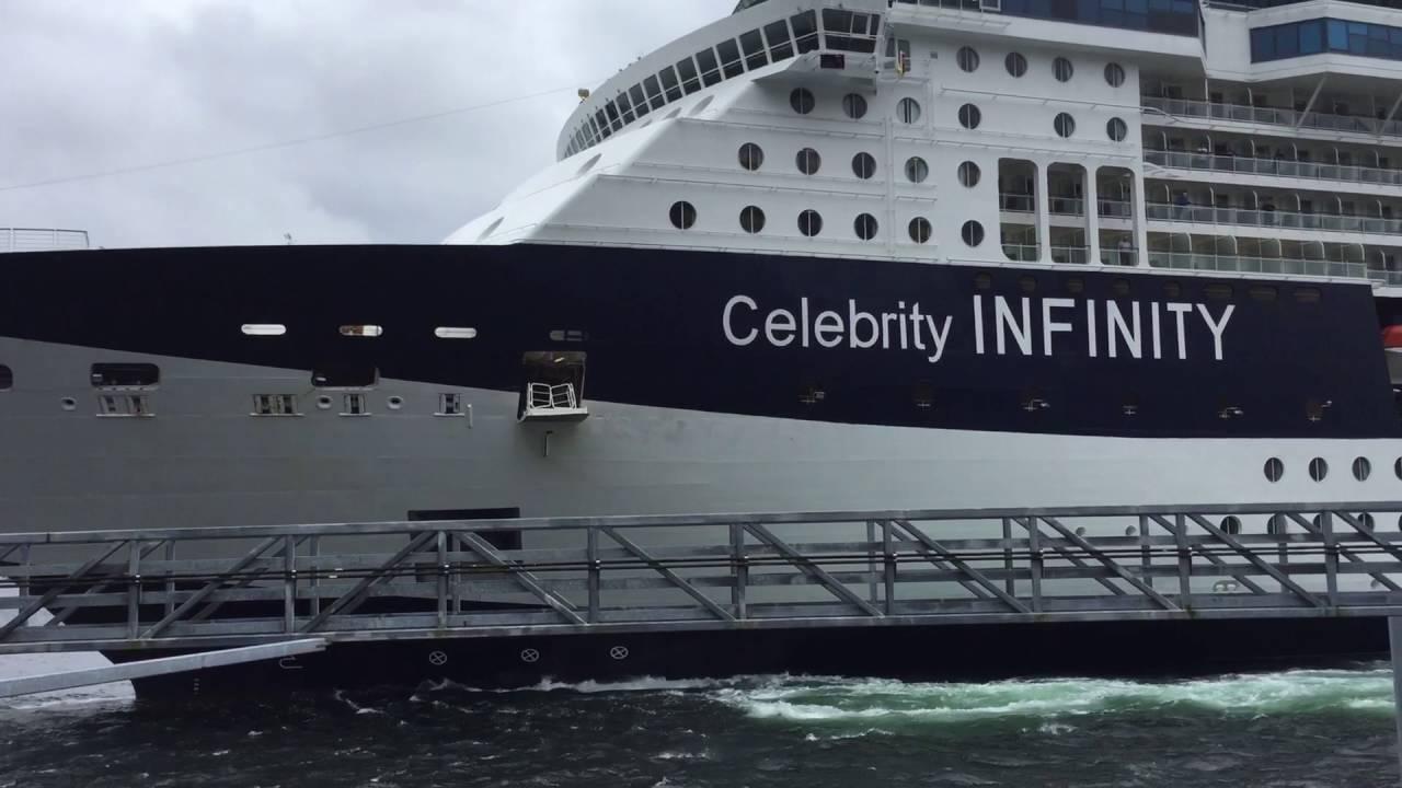 Celebrity Infinity slams into Ketchikan Dock 06/03/16