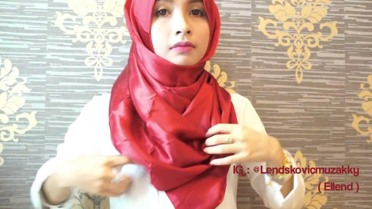 Hijab Tutorial 13 Simple Satin Shawl By Ellend YouTube