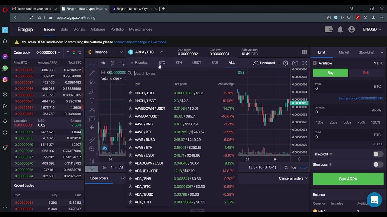 bitsgap profit era bedeutet bitcoin di trading