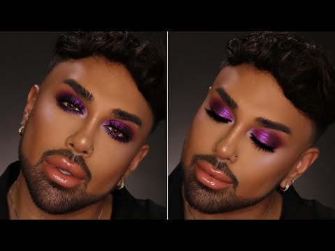 Purple Smokey Eyes | Artist Couture Midnight Maven Palette | Mac Daddyy | Angel Merino thumbnail